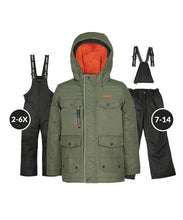 Load image into Gallery viewer, HALO - Khaki - Boys Jacket and Snow Pant Set