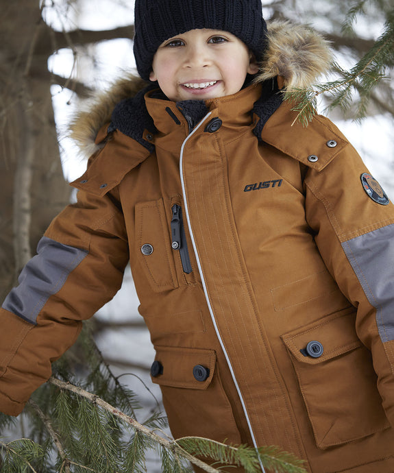 ZIDAN - Cognac - Boys Winter Parka Jacket