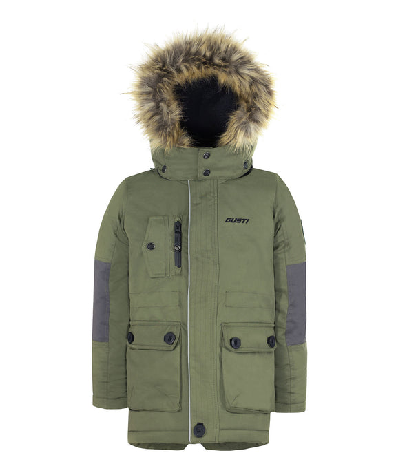 ZIDAN - Khaki - Boys Winter Parka Jacket