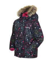 Load image into Gallery viewer, ODILA - Black - Girls Jacket and Snow Pant Set