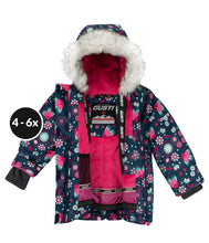 Load image into Gallery viewer, HELIA - Marine - Girls Jacket and Snow Pant Set