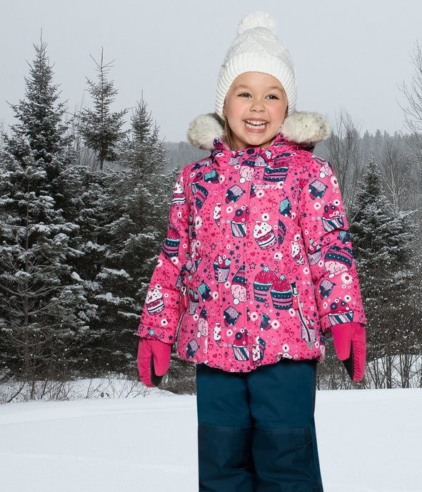 OLIVIA - Pink - Girls Jacket and Snow Pant Set
