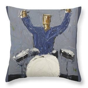 Blue Dummer  - Throw Pillow