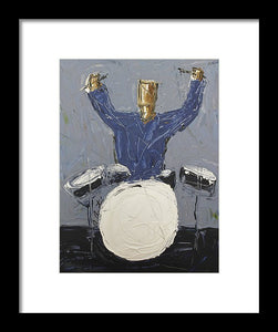 Blue Dummer  - Framed Print