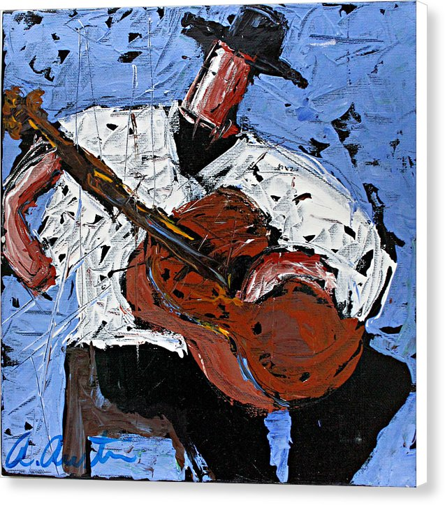 Blue Guitar  - Canvas Print