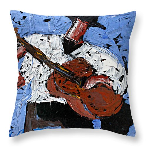 Blue Guitar  - Throw Pillow