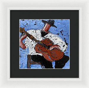 Blue Guitar  - Framed Print