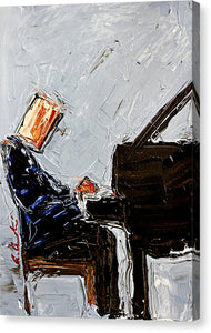 Blue Piano  - Canvas Print
