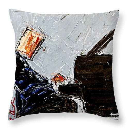 Blue Piano  - Throw Pillow