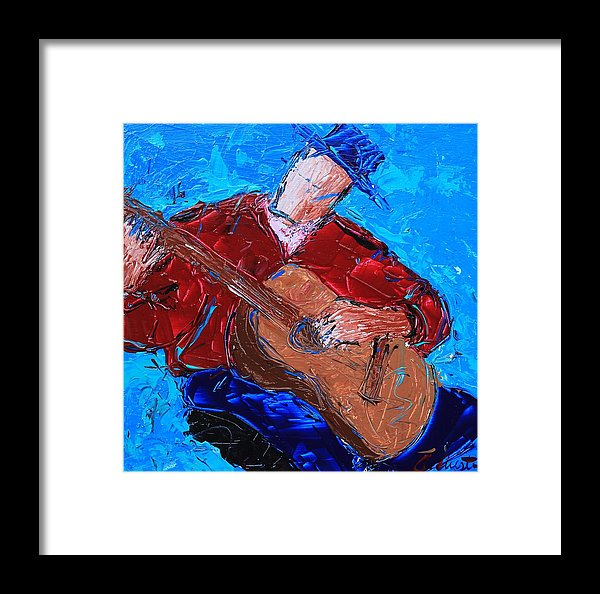 Blue Strings  - Framed Print