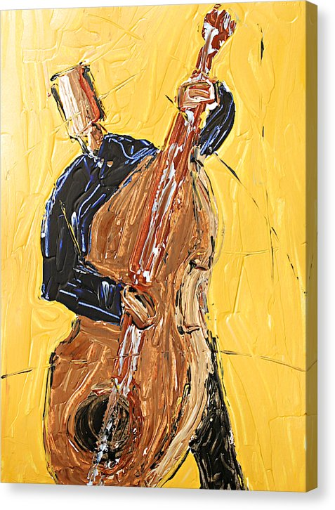 Cello Yellow - Canvas Print