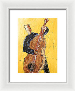 Cello Yellow - Framed Print