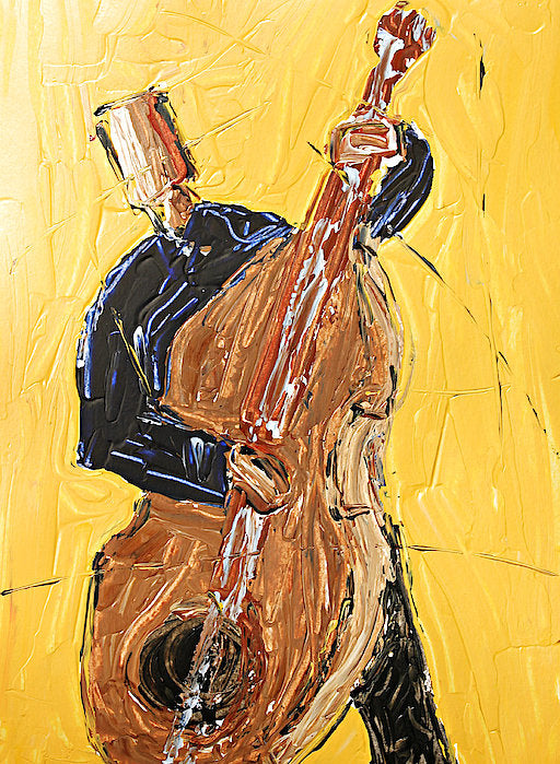 Cello Yellow - Art Print