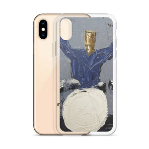 Blue Drummer iPhone Case