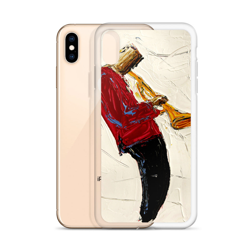 Red Jacket Trumpet iPhone Case