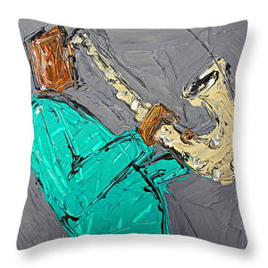 Saxo Turquoise  - Throw Pillow