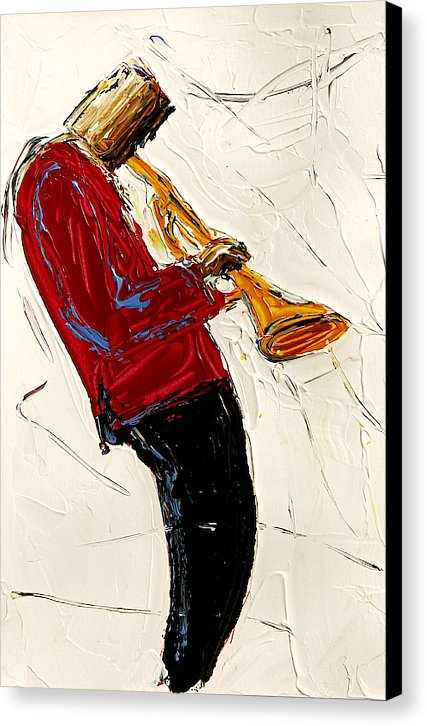 Saxophone Red  - Canvas Print