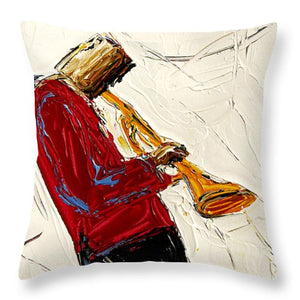 Saxophone Red  - Throw Pillow