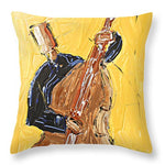 The Cello Yellow - Throw Pillow