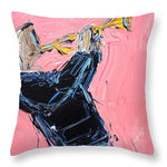 Trumpet Pink  - Throw Pillow