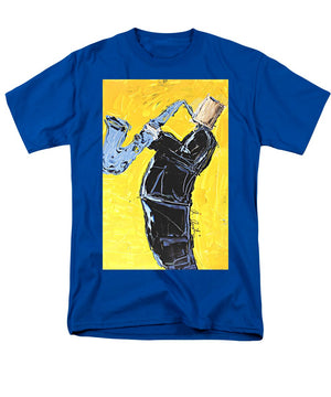 Yellow My Blue Sax - Men's T-Shirt  (Regular Fit)