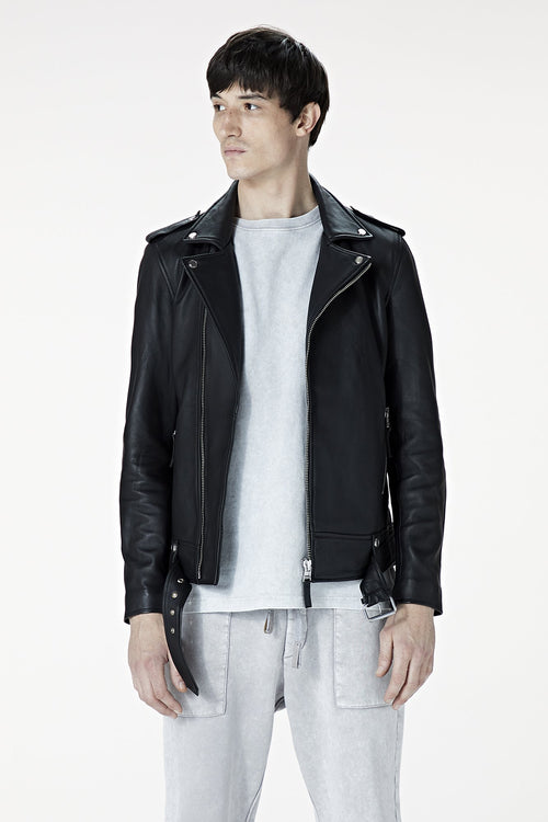 Black Leather Voyager Jacket