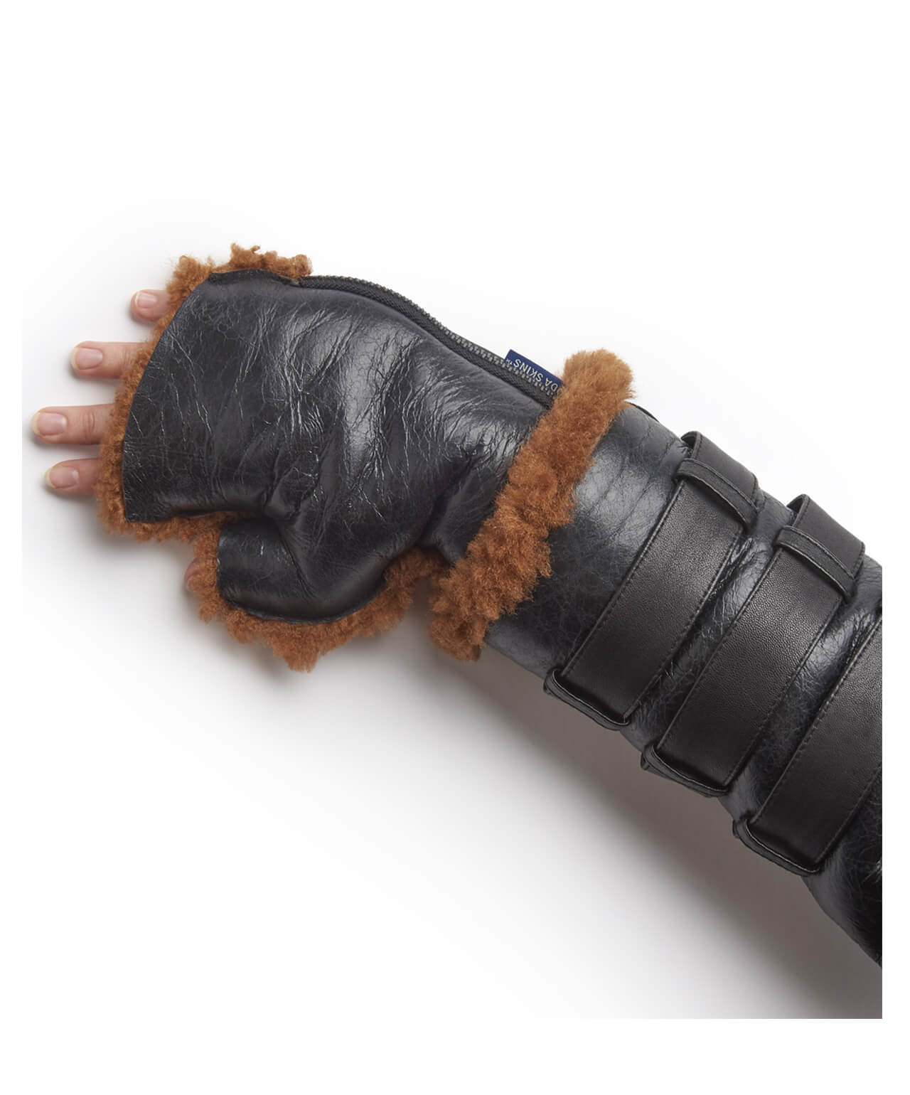 Hunter Noir Shearling Gloves