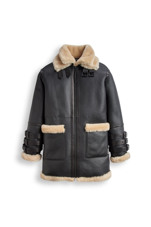 Women's Long Line Shearling Jacket