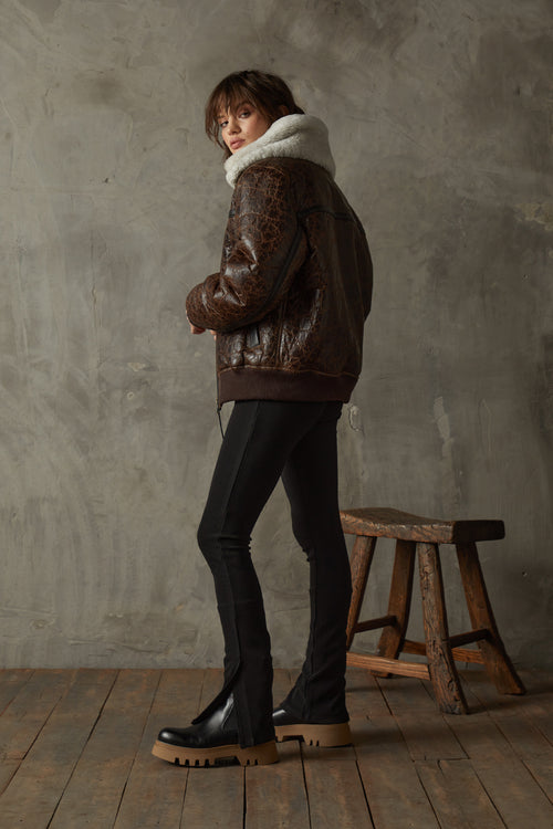 Shearling Aviator Jacket - Luxury Shearling | BODA SKINS