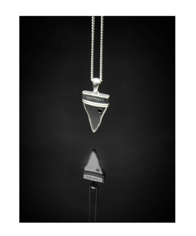 Shungite Shark Tooth Pendant
