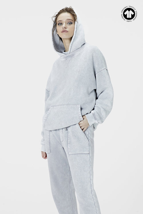 530 Washed Stone Grey Hoodie