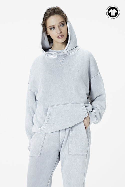Women's 530 Washed Grey Hoodie