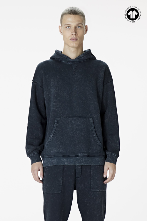 Men's 530 Washed Black Hoodie