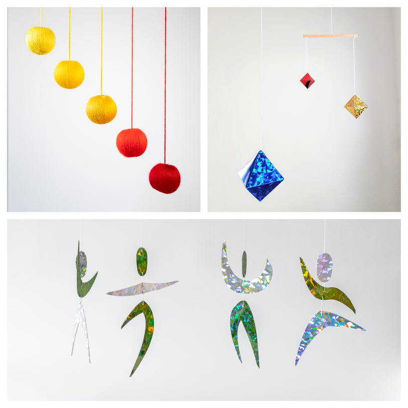 Sets of 3 x montessori mobiles