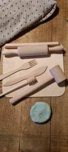 Wooden Tools for Playdough. Set of 6.