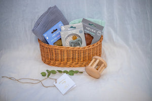 Baby boy gift basket. Baby boy gift hamper. New baby boy shower gift.