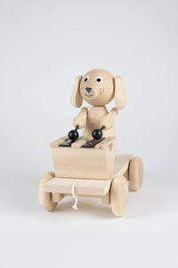 Wooden Dog with a Xylophone