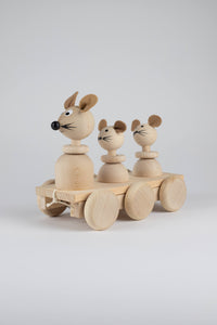 Wooden Mouse and Her Babies