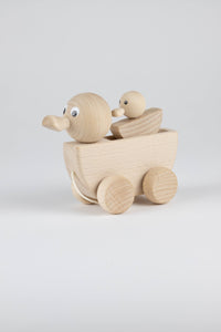 Wooden Mum and Duckling