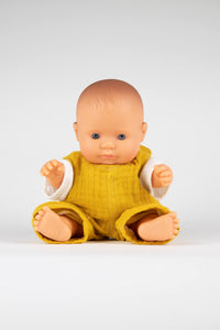 Miniland Baby Doll Caucasian Boy 21 cm with Clothes