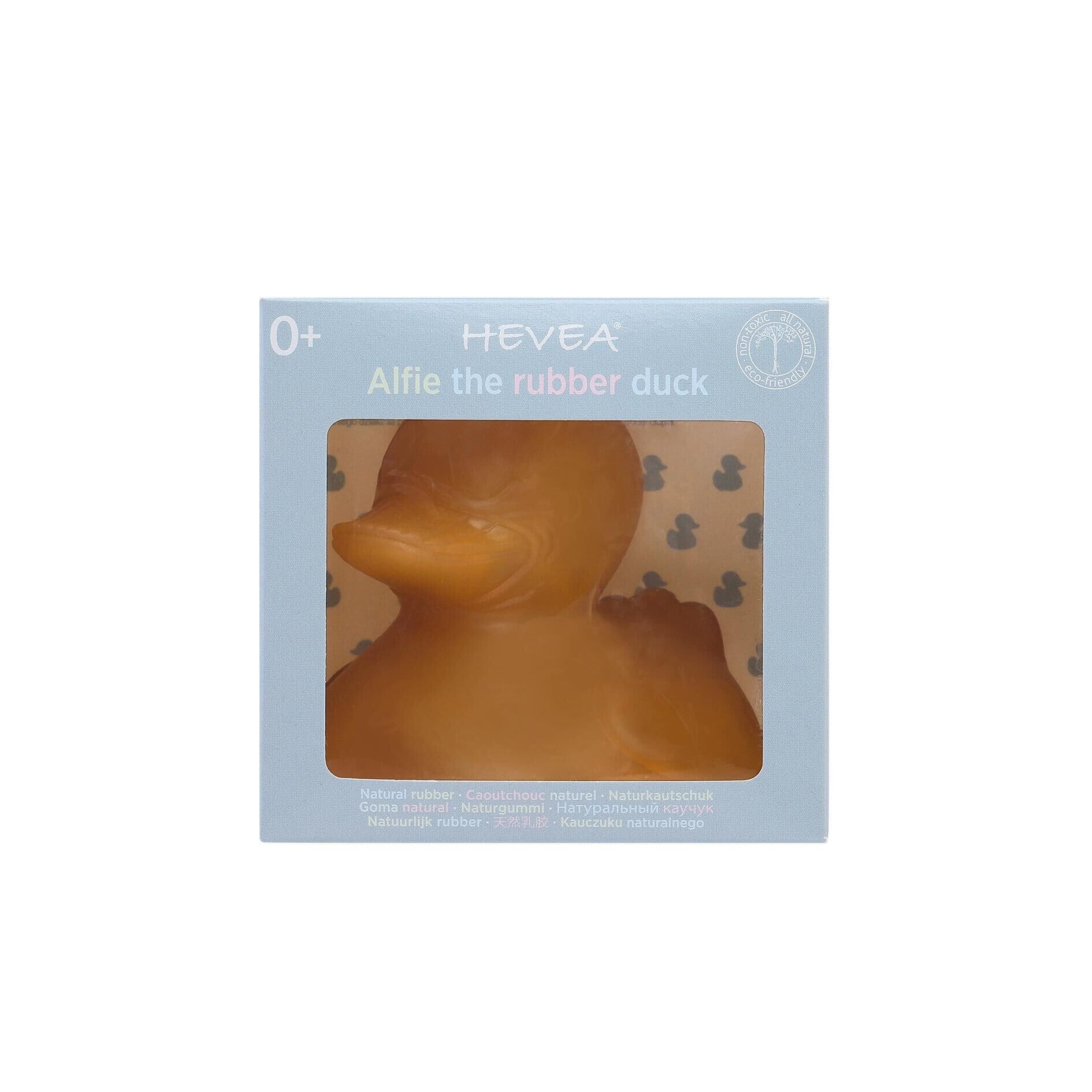 Alfie the duck. Natural Rubber Bath Toy Free of Holes.