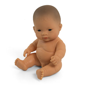 Miniland Doll. BABY DOLL ASIAN BOY 21CM