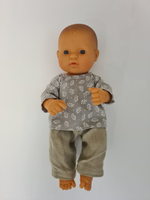 Load image into Gallery viewer, Miniland Doll - 12.63'', 32cm. Caucasian Boy Doll with Handmade Clothes.