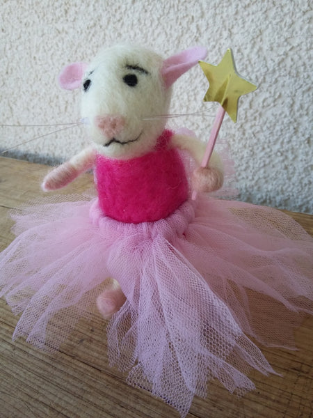 Fairie mouse. Fairy mouse. Felted mouse. Felt mouse. Birthday mouse. Gift mouse. Cute mouse toy. Mouse toy. Rat toy. Gift for a girl.