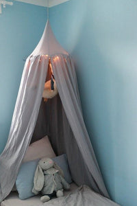 Muslin Cotton Bed Canopy, Kids Play Tent, Crib Canopy, Hanging Tent, Baby Cot Canopy, Bed Canopy, Hanging Ceiling Tent, Grey Muslin Canopy