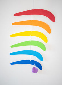 Rainbow montessori mobile. Montessori inspired mobile. Baby mobile. Newborn toy. Baby toy. Early learning toy. hanging mobile