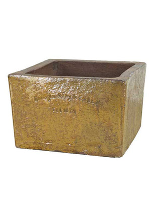 Square Planter 'Old Leather'