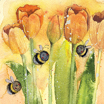 Tulips Card By Alex Clark