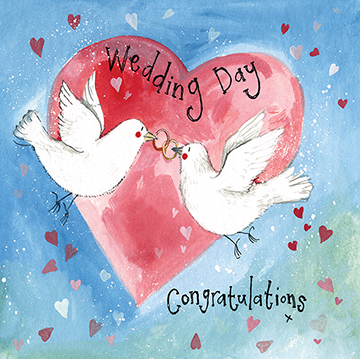 Wedding Doves Card By Alex Clark
