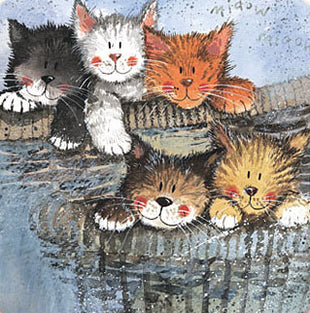 Kittens Card By Alex Clark